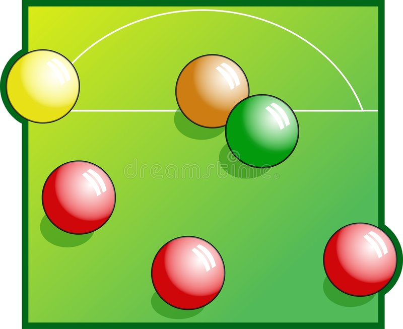 Download Snooker stock illustrationer. Illustration av fritid, kruka - 44047