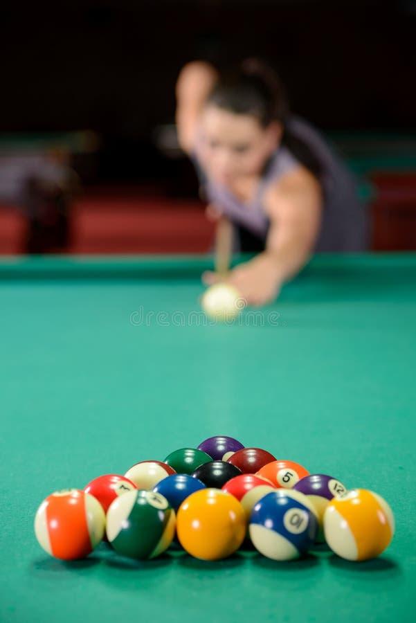 snooker fotografie stock libere da diritti
