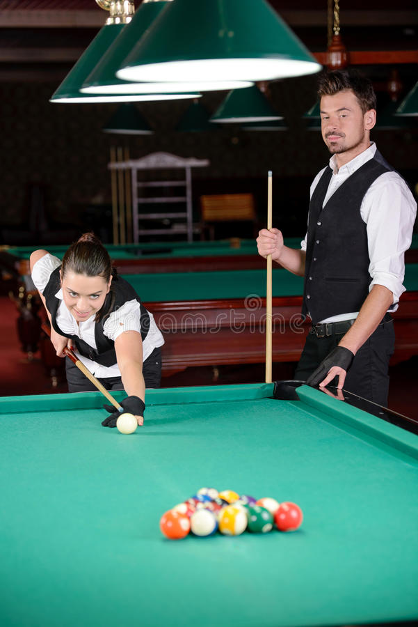 snooker fotografie stock
