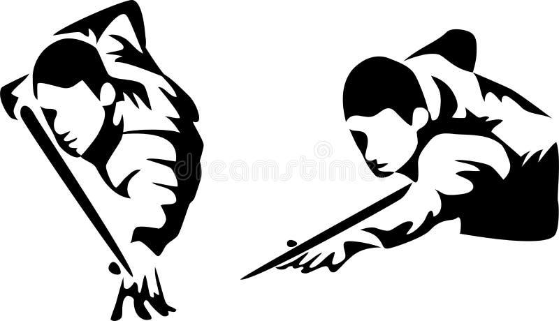 snooker иллюстрация штока