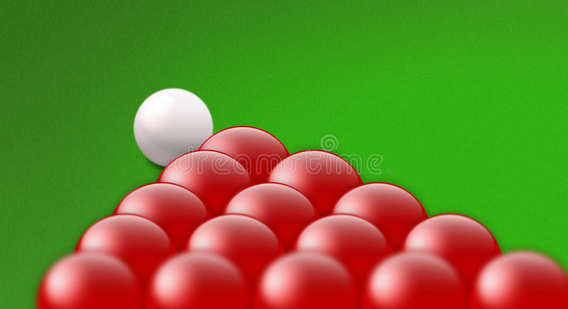 Snooker ilustração royalty free