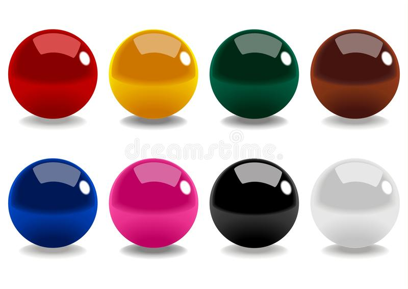 Download Snooker Balls stock vector. Image of iconic, play, illustration - 18121206