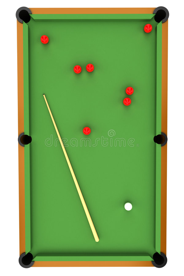 Snooker/billiard royalty free illustration