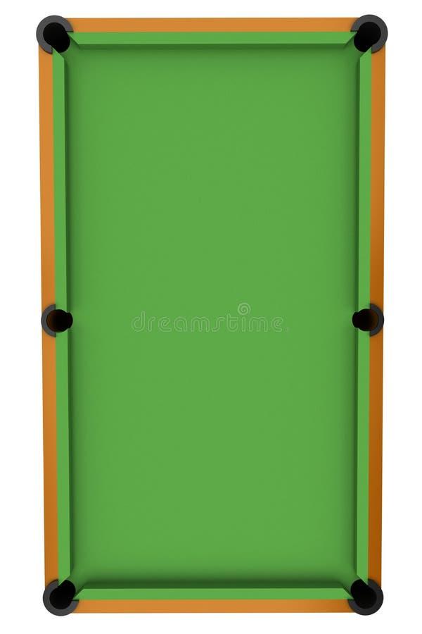 Snooker billiard table stock illustration