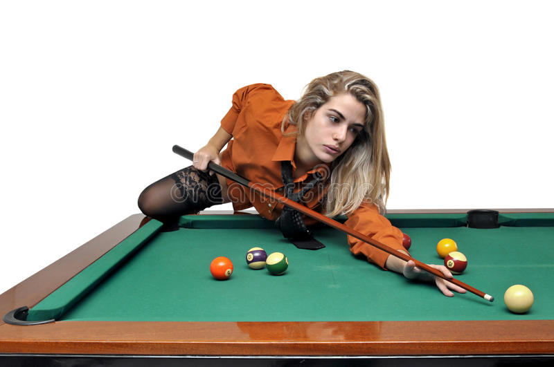Download Snooker girl stock photo. Image of pool, businesswoman - 17708866