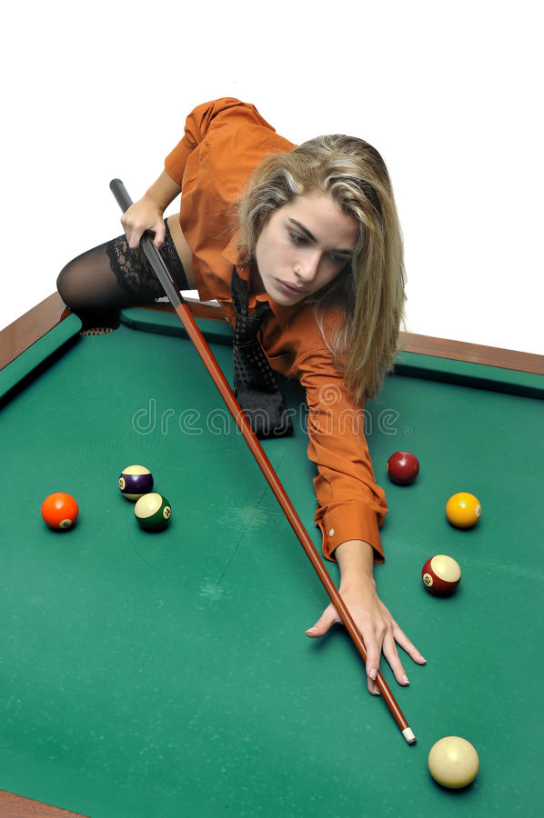 Download Snooker girl stock photo. Image of business, girl, motivated - 19360826