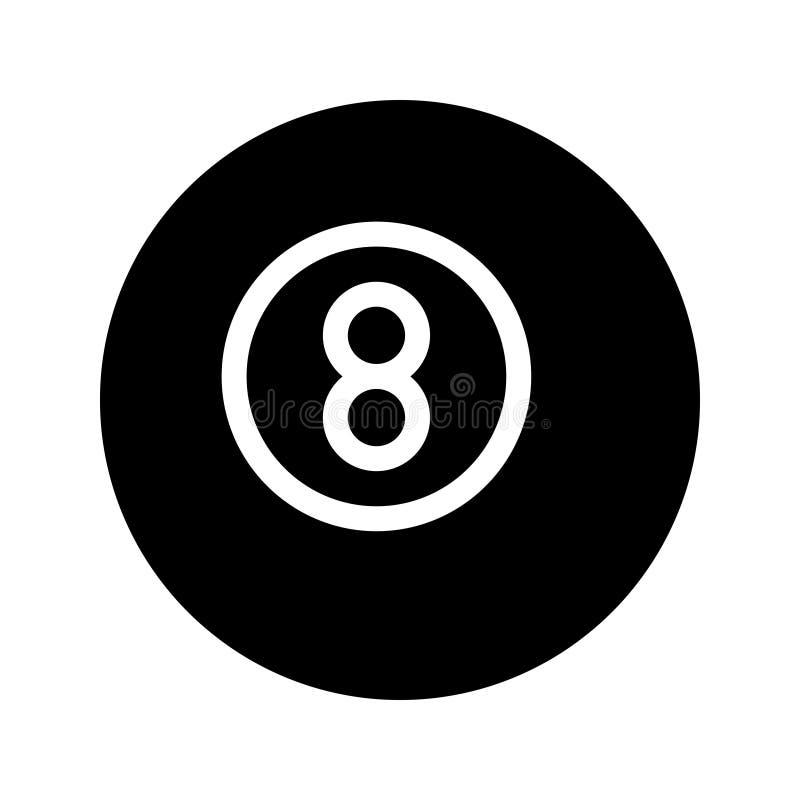 Snooker Glyph-Vektorikone lizenzfreie abbildung