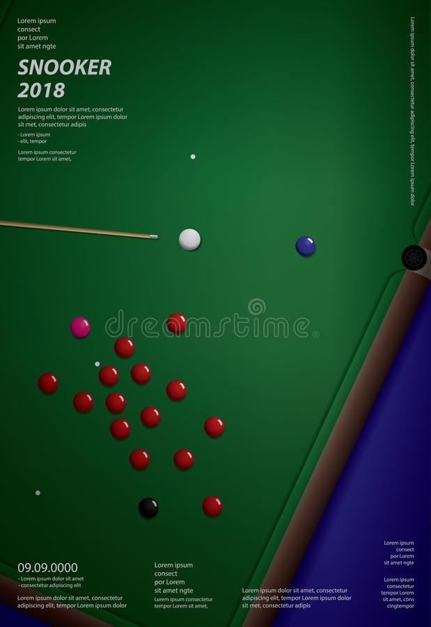 Snooker-Meisterschafts-Plakat-Design-Schablone Vektor ...