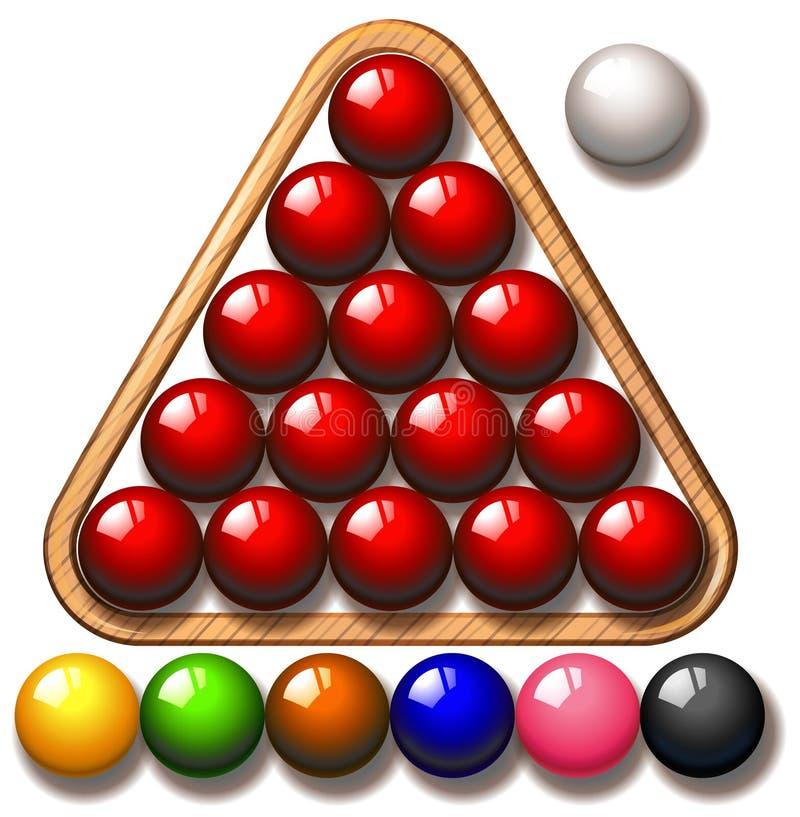 Download Snooker Piłki W Trójbok Ramie Ilustracja Wektor - Ilustracja złożonej z grafika, trójbok: 57658272
