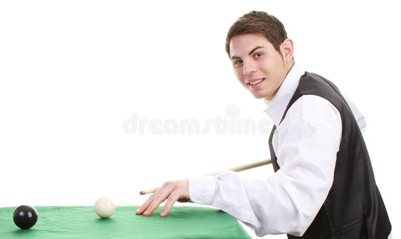 Download Snooker player stock photo. Image of leisure, colored - 22035346