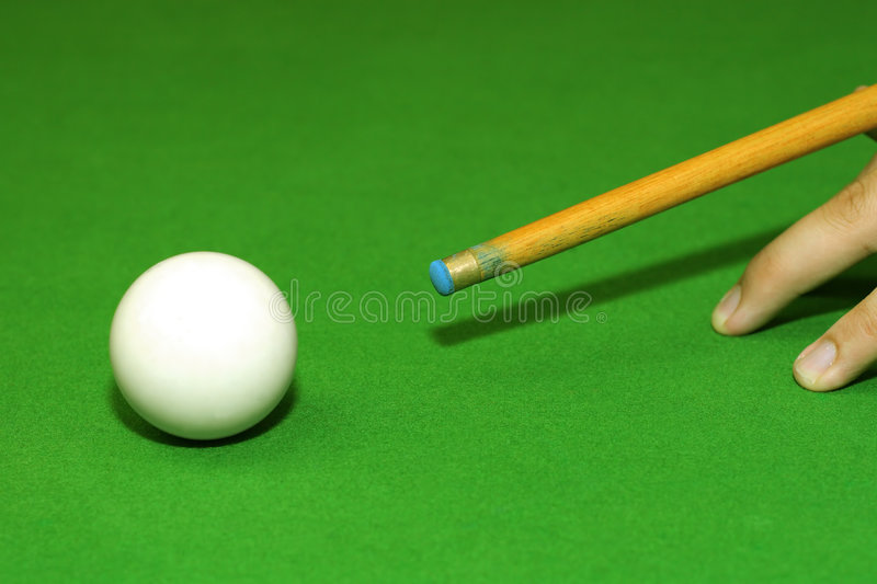 Snooker player royalty free stock photography