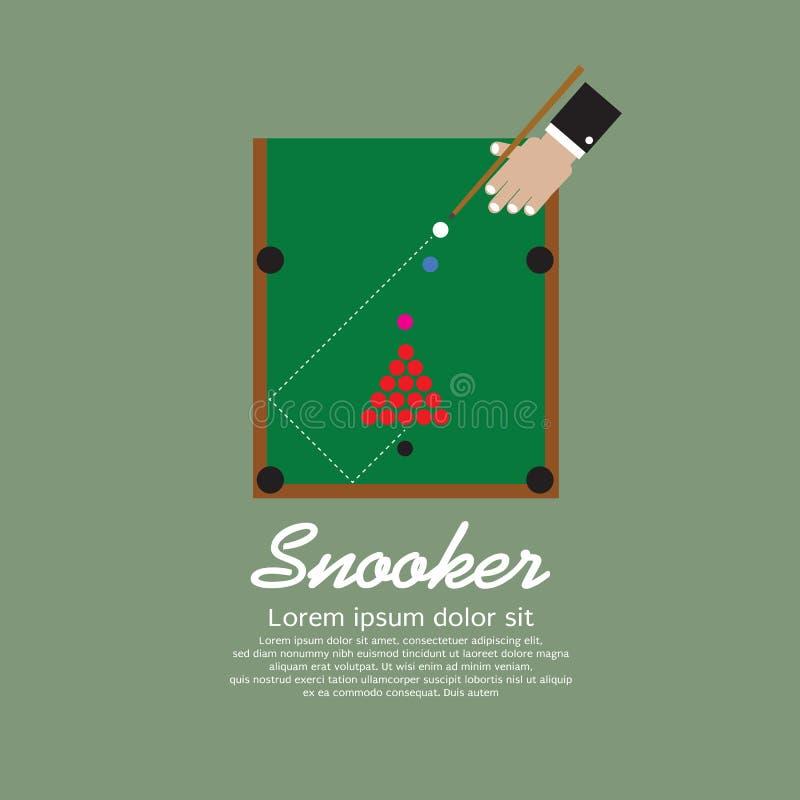 Snooker-Spielen. stock abbildung