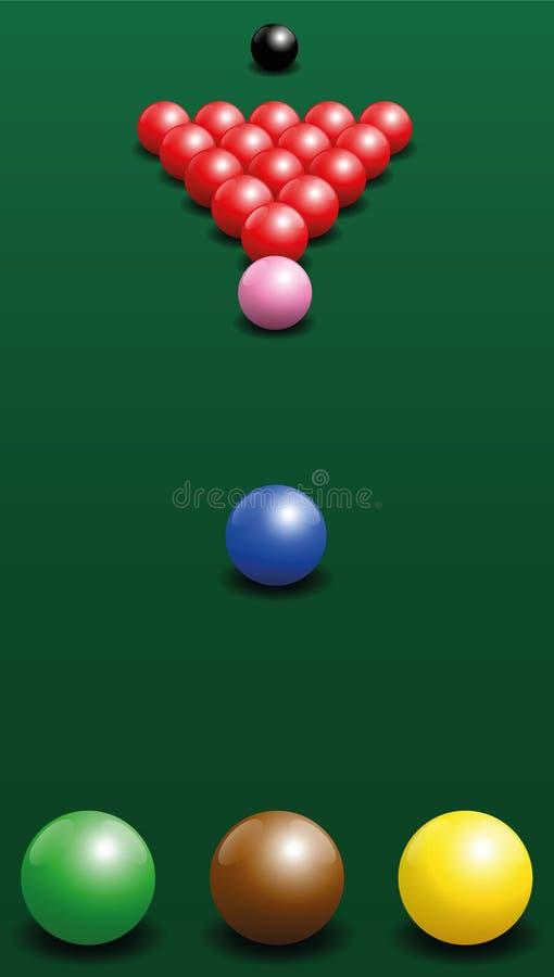 Snooker Starting Position Break Shot Stock Vector