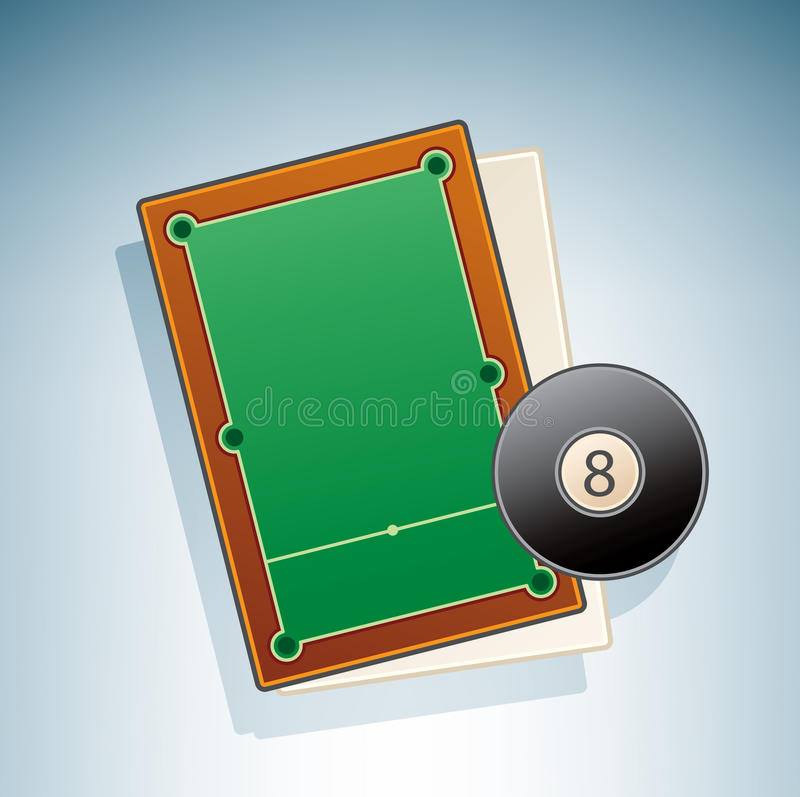 Download Snooker Table stock vector. Image of table, symbol, blue - 15088886