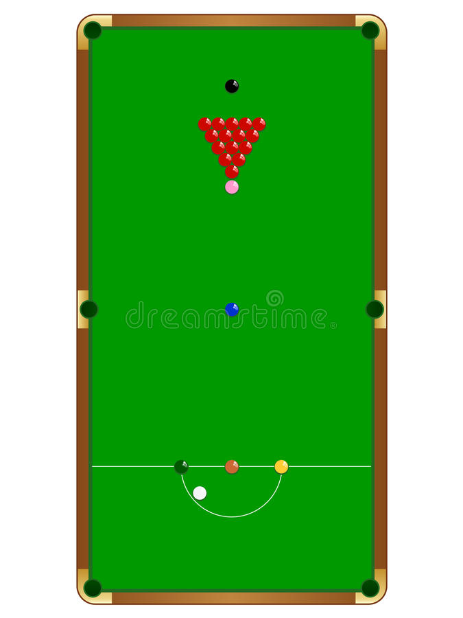 Download Snooker Table stock vector. Image of blue, lines, cloth - 19980165