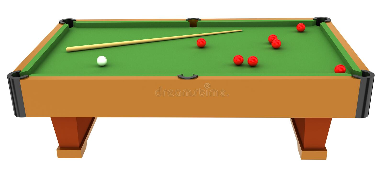 Snooker table stock illustration