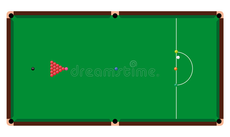 Snooker Table vector illustration