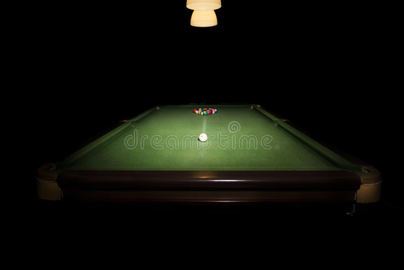 Snooker table royalty free stock photography