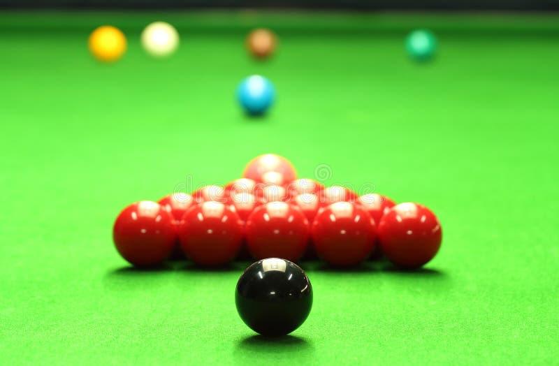Snookerbollar arkivfoto