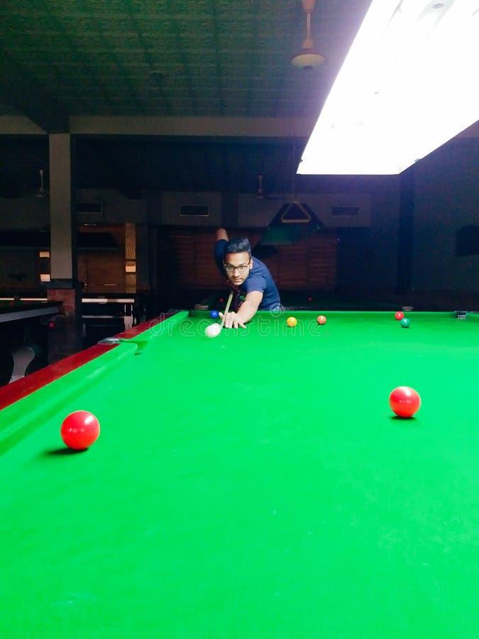 Snookerdingen stock afbeelding