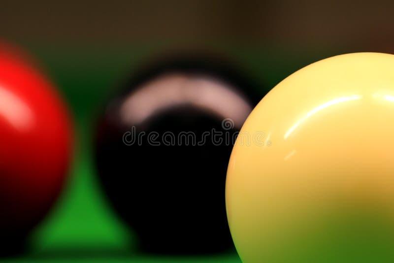 Snookeren klumpa ihop sig royaltyfria foton