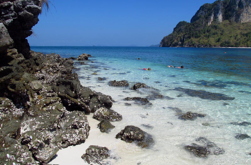 Snookering in Krabi Beaches and Islands Thailand stock images
