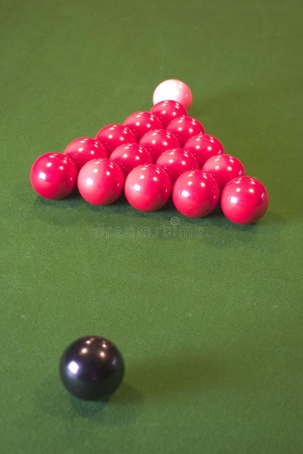 Snookerkugeln stockbilder