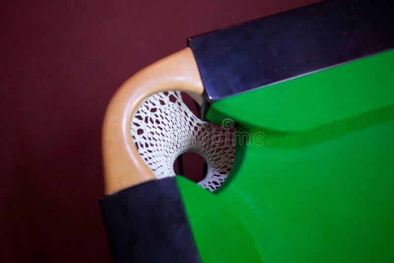 Snookerlochnetz lizenzfreie stockfotografie