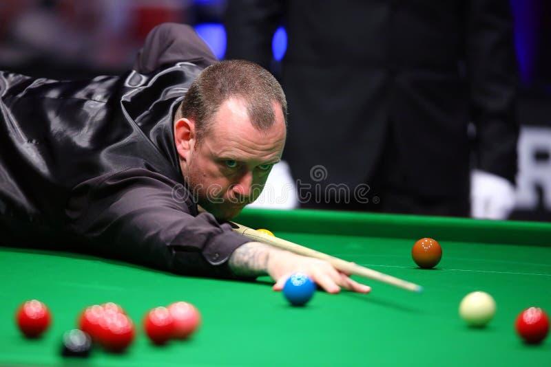 Snookerspelare, Mark Williams royaltyfri bild