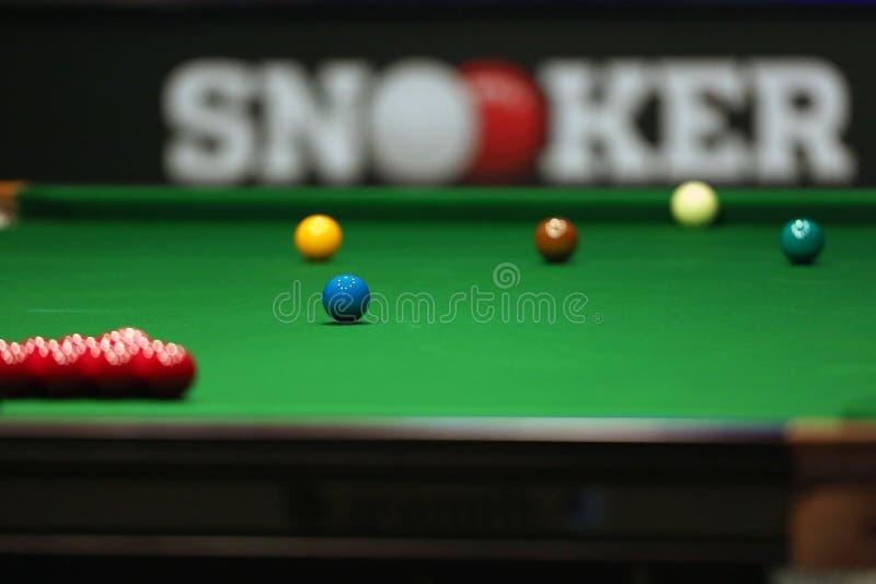 Snookertabell arkivbild