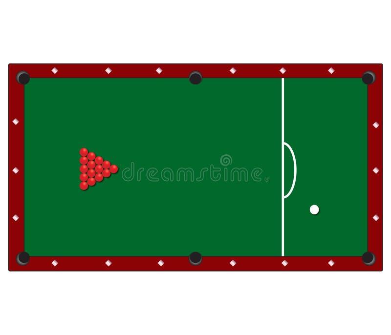 Download Snookertabelle vektor abbildung. Bild von ausrüstung - 13981526