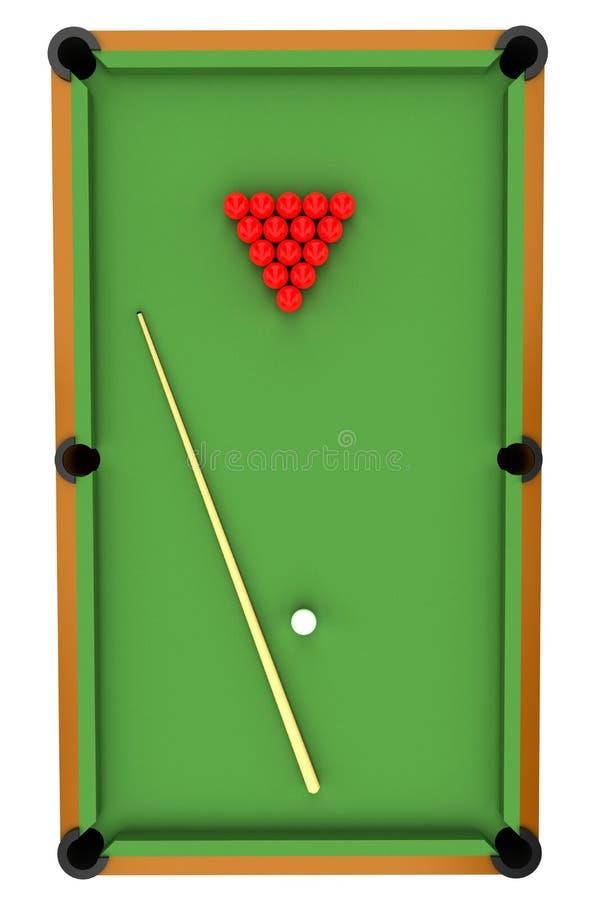 Snookertabelle stock abbildung