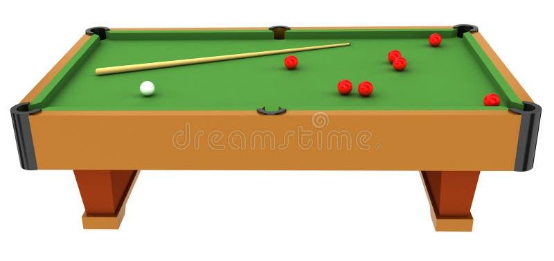 snookeru stół ilustracji