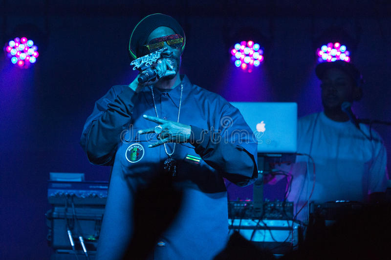 Snoop Dogg (Snoop Lion) Performs in Bend, Oregon 12-18-2012 royalty free stock photography