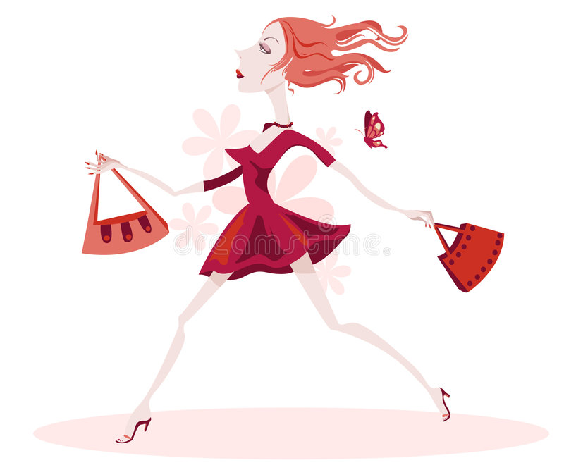 Download Snooty Lady Is Off Shopping Stock Illustration - Image: 4518529