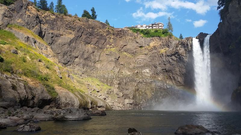 Snoqualmie Falls, Wa stock images