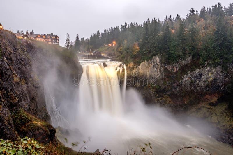 Snoqualmie nedgångar i Washington State arkivfoton
