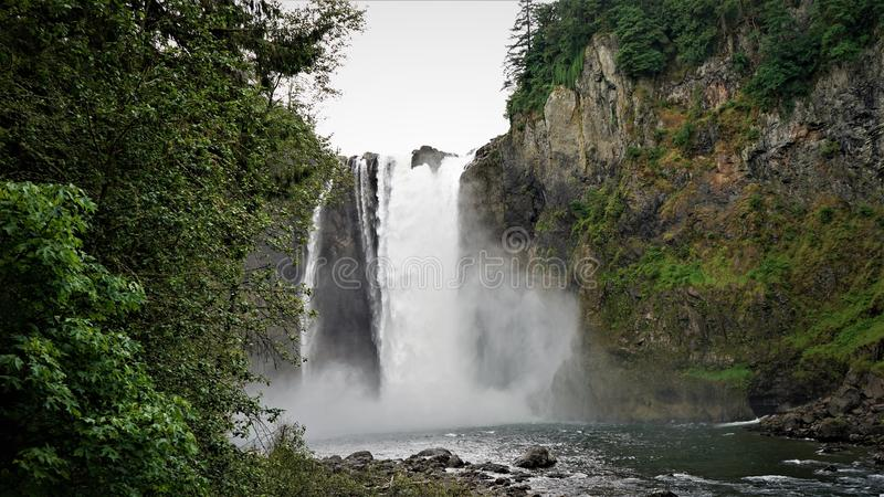 Snoqualmie tombe parc images stock