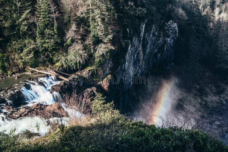Snoqualmine nedgångar - Seattle arkivbild