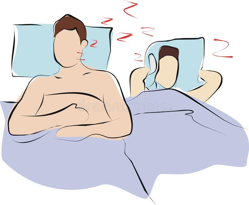 Snore royalty free illustration