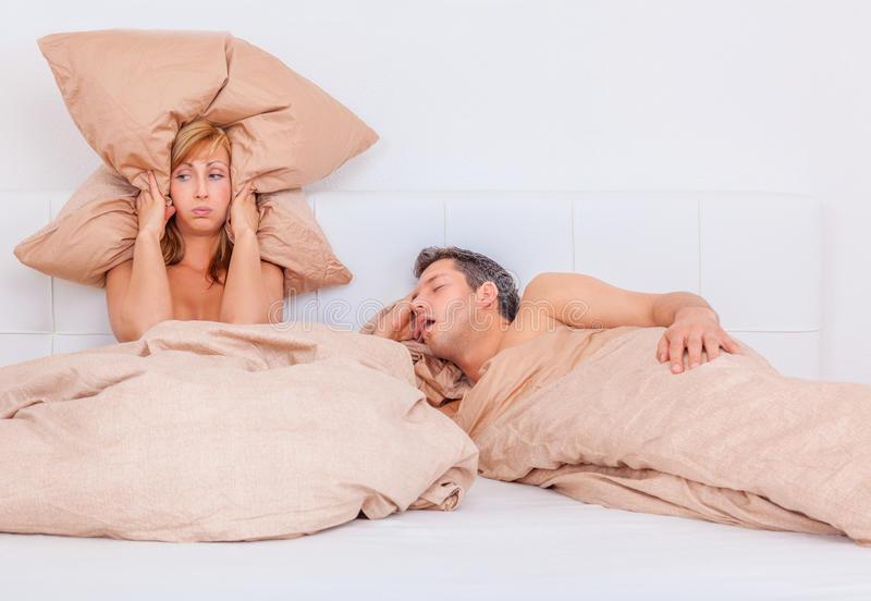 Snore night. Difficult relationship loud bedtime stories royalty free stock photography