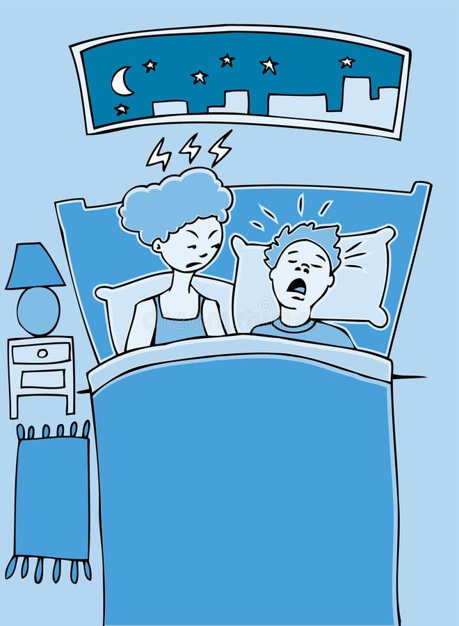 Snoring stock illustration