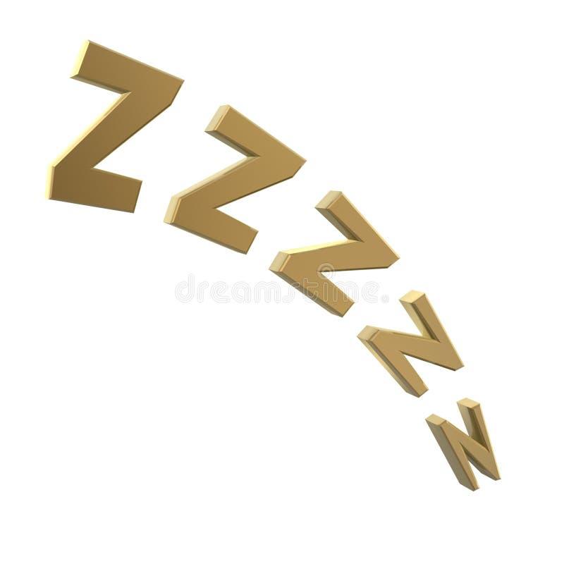 Snoring symbol stock illustration