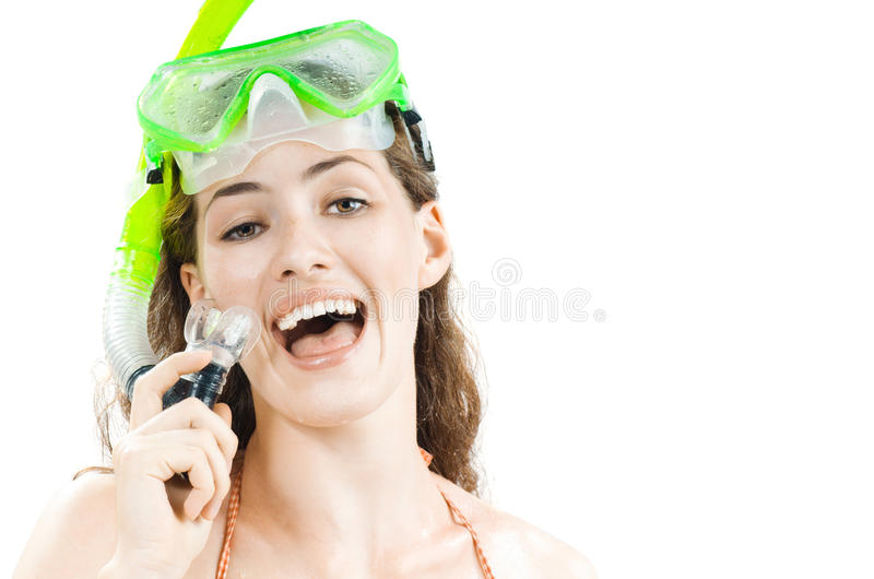 Download Snorkel stock photo. Image of vacations, cheerful, women - 10527852