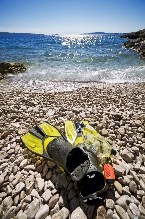 Snorkel apparatuur royalty-vrije stock foto's