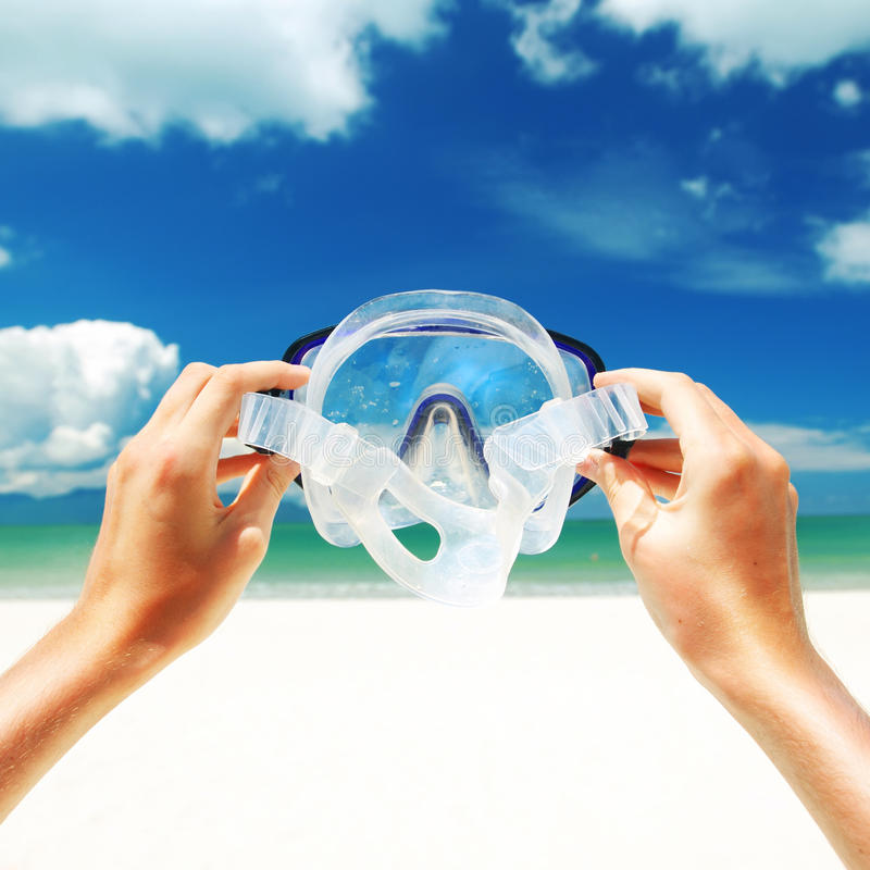 Snorkel apparatuur stock foto