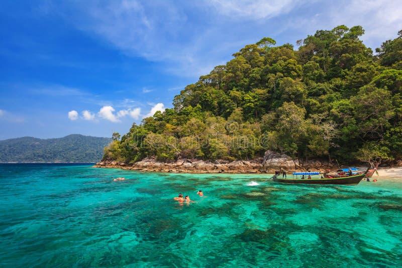 Snorkel duikend in Koh Lipe - Thailand royalty-vrije stock fotografie