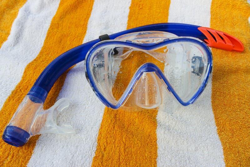 Snorkel en het duiken masker stock fotografie