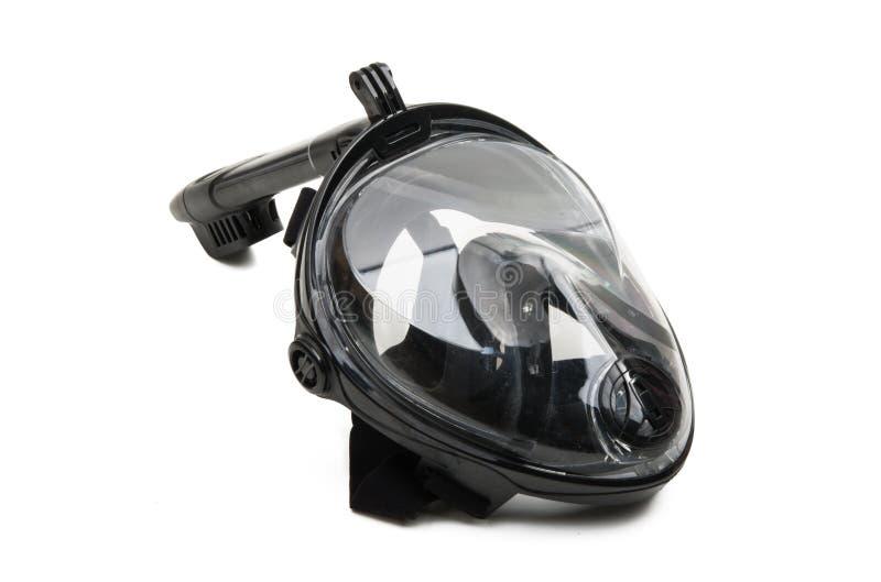 snorkel geïsoleerd masker stock afbeeldingen