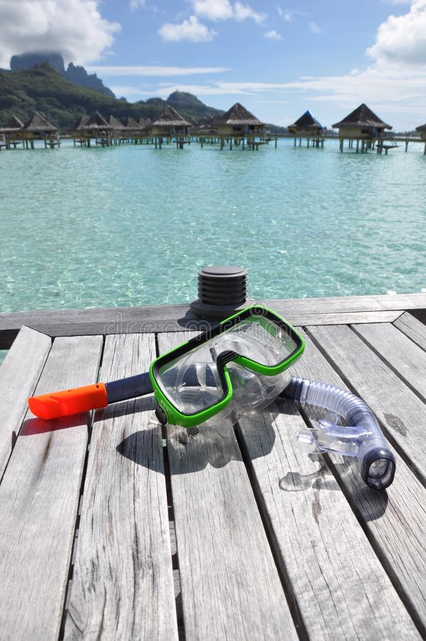 Download Snorkel and Mask stock photo. Image of bungalow, pacific - 10960786